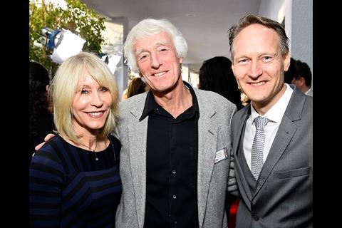 Oscar-nominated Unbroken cinematographer Roger Deakins and Isabella Deakins with British Consul General Chris O'Connor